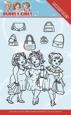 Clear Stamp - Yvonne Creations - Bubbly Girls - Gone Shopping