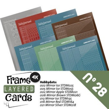 Stickerset Frame Layered Cards no. 28