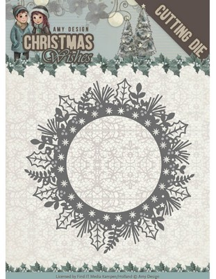 Dies - Amy Design - Christmas Wishes - Holly Wreath  (Kerstkrans)