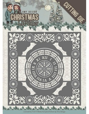 Dies - Amy Design - Christmas Wishes - 12 O`Clock Frame