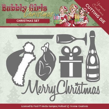 Dies Yvonne Creations - Bubbly Girls - Christmas Set