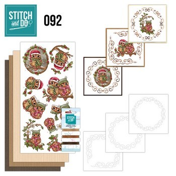 Stitch & Do 92 - Christmas Owls  (Kerstuilen)