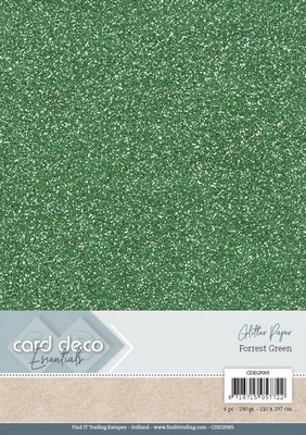 Card Deco Essentials - Glitter karton - Forest Green