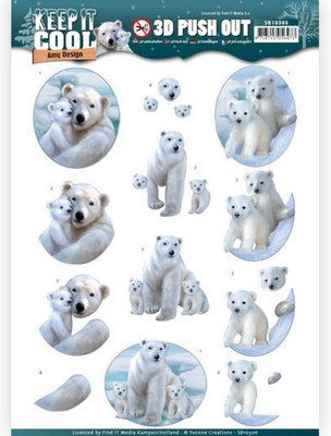3D Pushout Amy Design - Keep it Cool - Cool Polar Bears