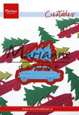 Creatables stencil Marianne Design - Driving Home for Christmas