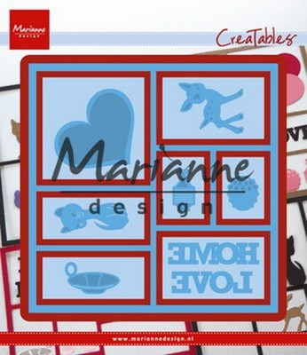 Creatables stencil Marianne Design - Layout