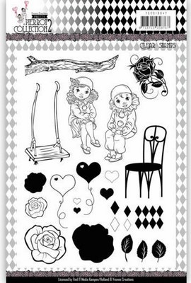 Clear Stamps - Yvonne C. - Pretty Pierrot 2