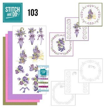 Stitch & Do 103 - Bloemen in Paars