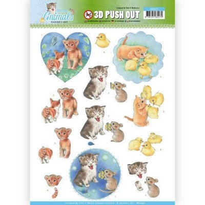 3D Pushout Jeanine`s Art - Young Animals - Kittens