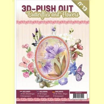 3D Push-out boek # 13 - Butterflies & Flowers