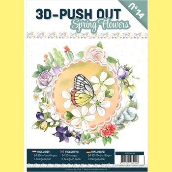 3D Push-out boek # 14 - Spring Flowers