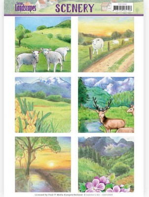 Die Cut Topper Jeanine`s Art - Spring Landscapes - Mountains