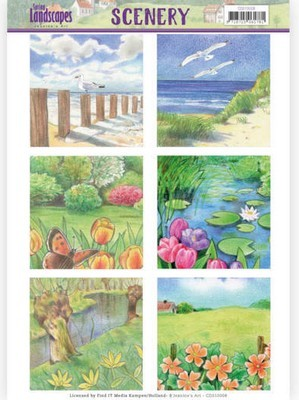 Die Cut Topper Jeanine`s Art - Spring Landscapes - Beach
