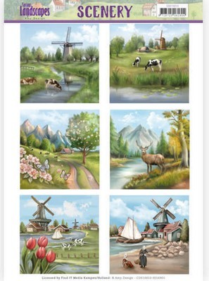Die Cut Topper Jeanine`s Art - Spring Landscapes - Meadows