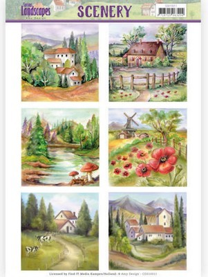 Die Cut Topper Jeanine`s Art - Spring Landscapes