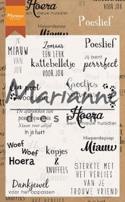 Marianne Design - Clear Stamp - Poeslief
