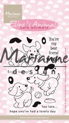 Marianne Design - Clear Stamp - Eline`s Cute Animals - Puppies