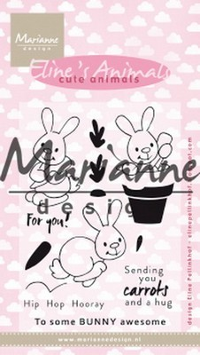 Marianne Design - Clear Stamp - Eline`s Cute Animals - Konijntjes