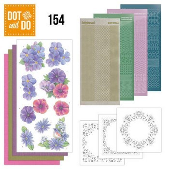Dot & Do 154 - Purple Flowers