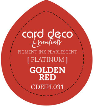 Card Deco Essentials - Pigment Ink Pearlescant - Golden Red