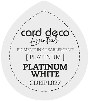 Card Deco Essentials - Pigment Ink Pearlescant - Platinum White