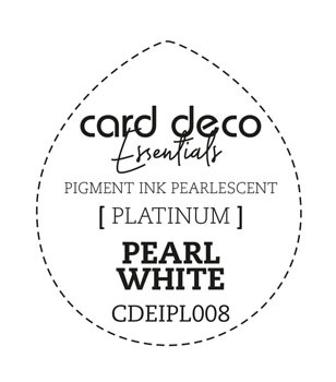 Card Deco Essentials - Pigment Ink Pearlescant - Pearl White