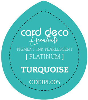 Card Deco Essentials - Pigment Ink Pearlescant - Turquoise