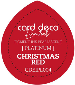 Card Deco Essentials - Pigment Ink Pearlescant - Christmas Red