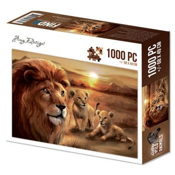 Puzzle 1000 pc  - Amy Design - Wild Animals 2 - Lion with Cubs
