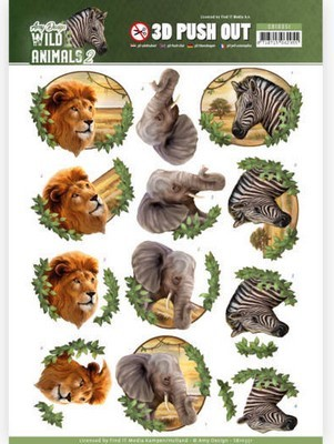 3D Pushout vel - Amy Design - Wild Animals 2 - Africa