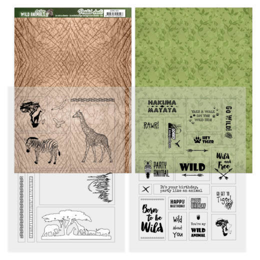 Printed Sheets  - Amy Design - Wild Animals 2 -