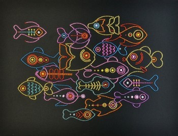 Miniart Crafts Naaldkunst -  Line Fishes