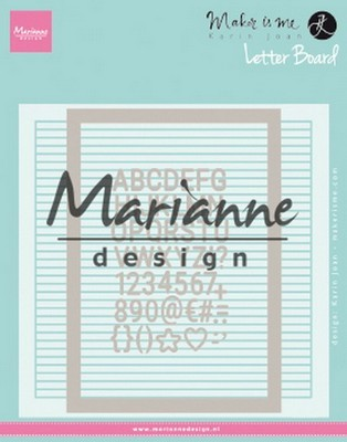 Marianne Design - Embossing Folder - Extra Karin Joan's Letter Board