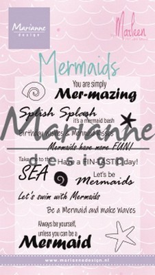 Marianne Design - Clearstamp - Mermaid Sentiments