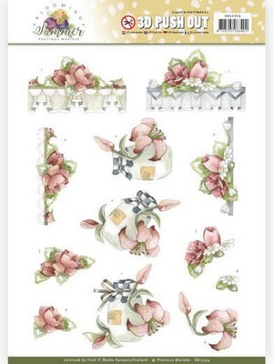 Push-out vel - Precious Marieke - Blooming Summer - Rode Zomerbloemen