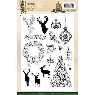 Clearstamp - Amy Design - Christmas in Gold - Kerstplaatjes