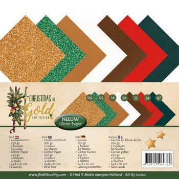 Linnenpakket A5 - Amy Design - Christmas in Gold