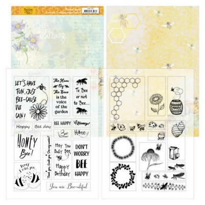 Mica Sheets - Jeanine's Art - Buzzing Bees