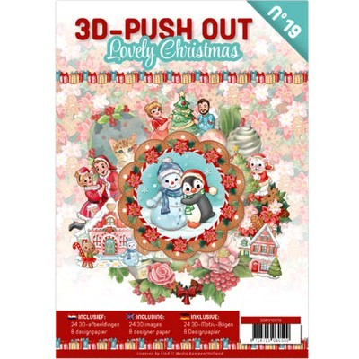 3D Push-out Boek 19 - Lovely Christmas