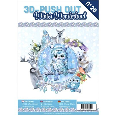 3D Push-out Boek 20 - Winter Wonderland