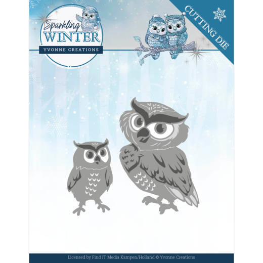 Dies - Yvonne Creations - Sparkling Winter - Winter Owls