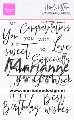 Marianne Design - Clear Stamp - Congratulation