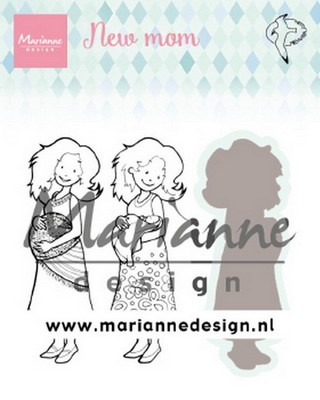 Marianne Design - Clear Stamp + snijmal - Hetty's New Mom