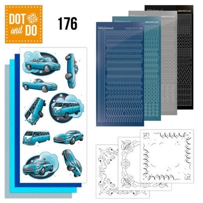 Dot & Do 176 - Yvonne Creations - Cars in Blue