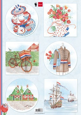 Marianne Design 3D knipvel - I Love Holland - Fiets