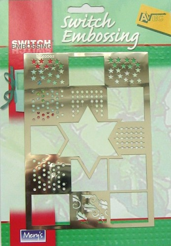 Embossing stencil