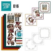 Stitch and Do nr. 16  Brocante Kerst