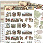 3D Set Minis & Labels - Yvonne C. Traditional Christmas