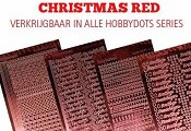 Hobbydots Set Christmas Red