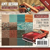 Paperpack - Amy Design - Vintage Vehicles - Auto`s